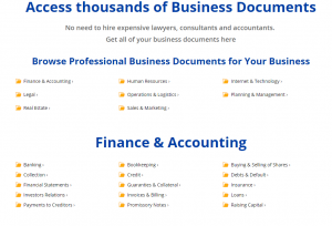 Business Documents and Templates