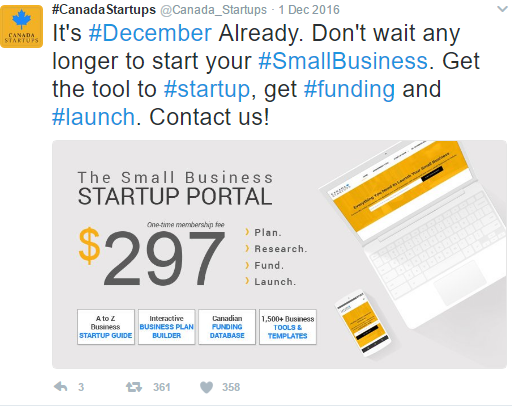 get access to the small business startup portal