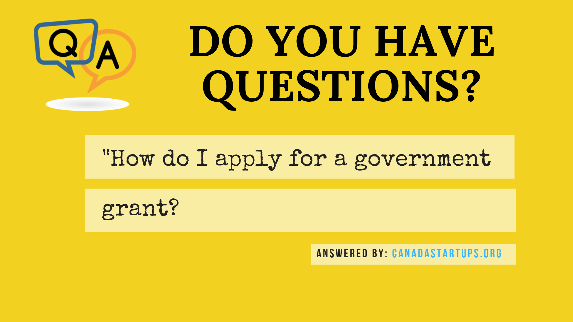 How do I apply for a government grant