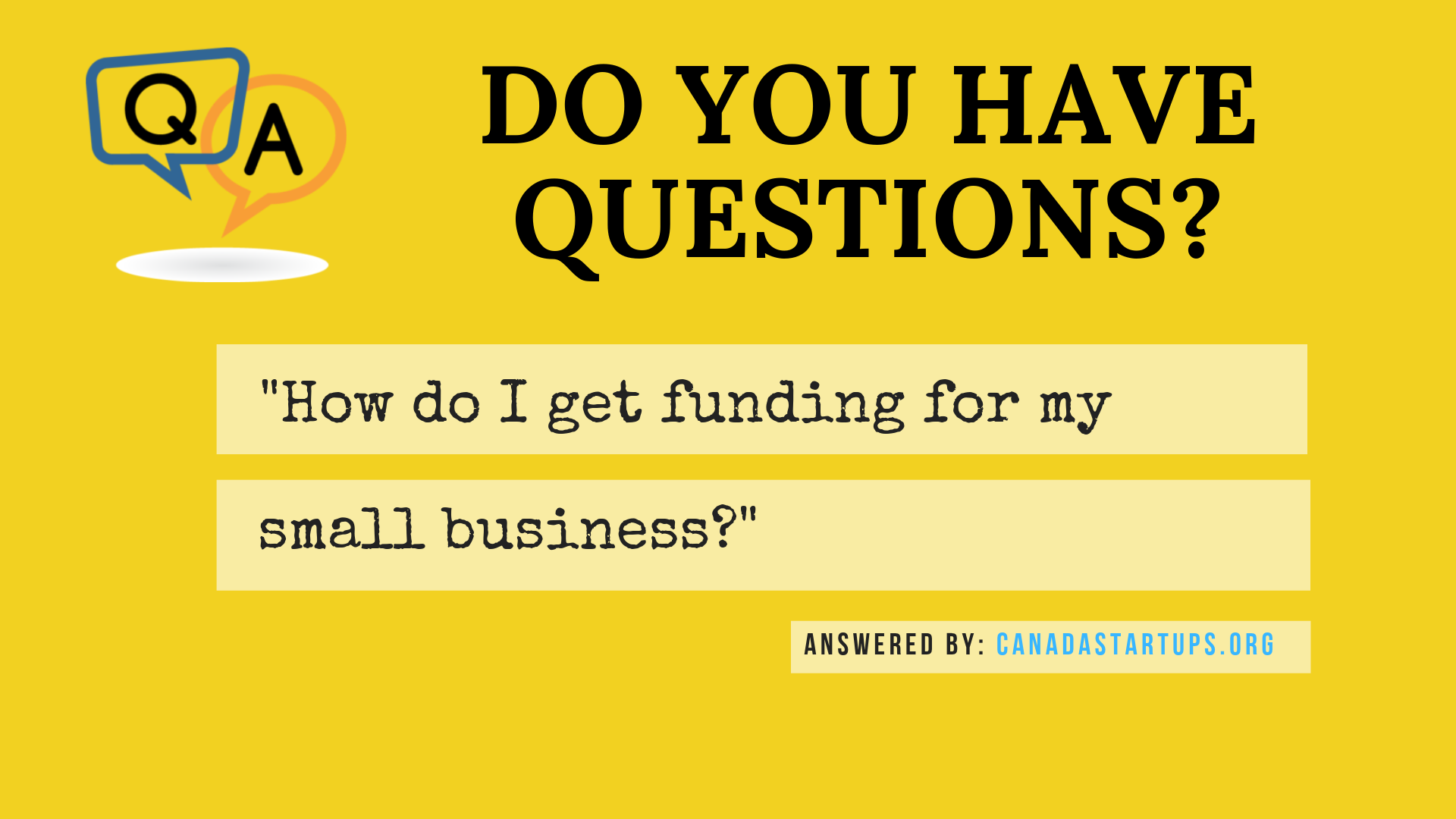 get funding for my small business