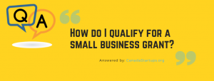 qualify for a small business grant