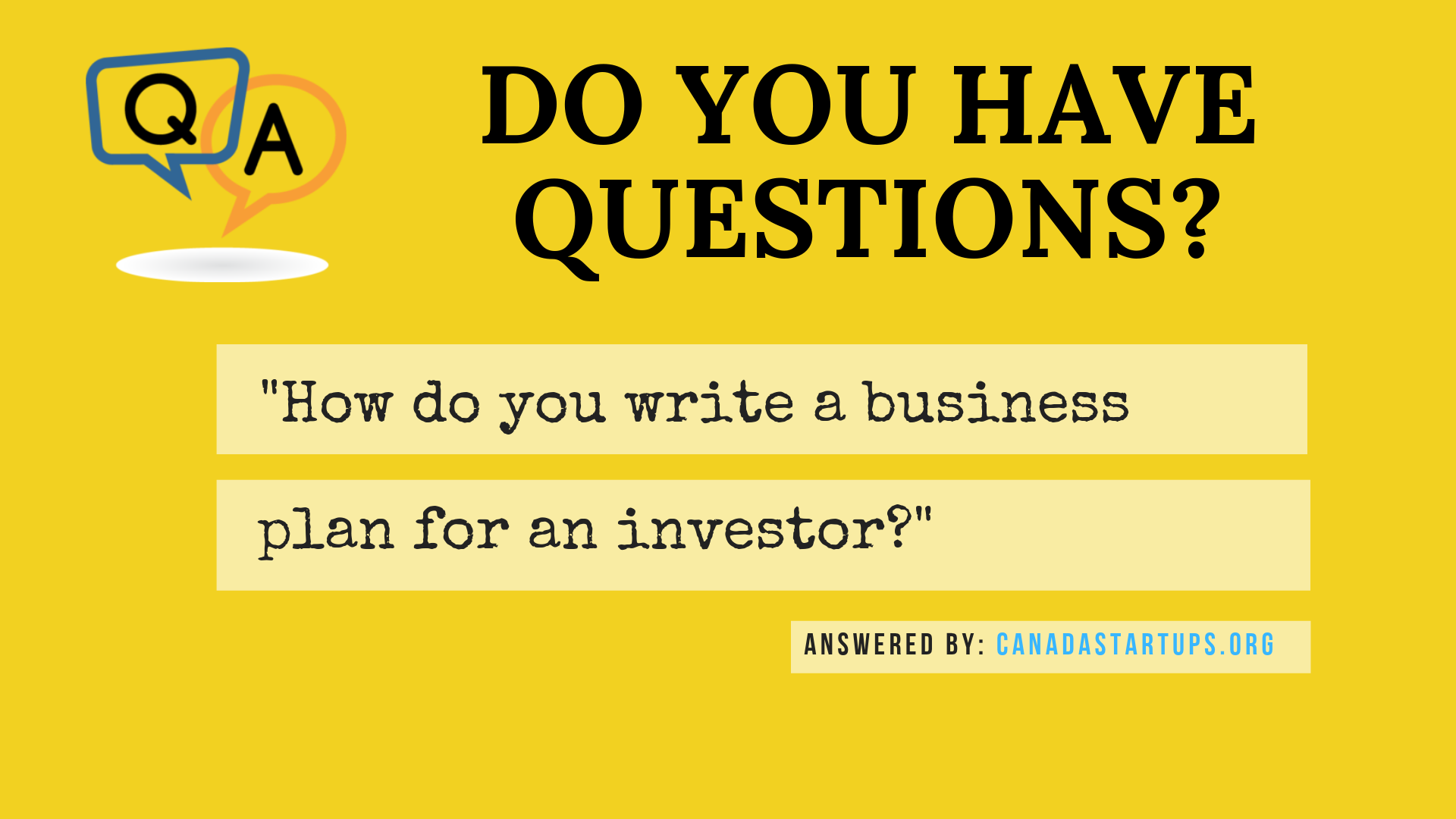write a business plan for an investor