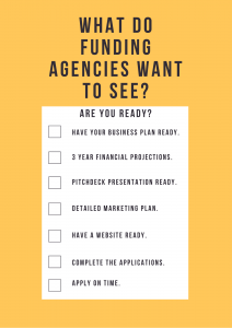 What do funding agencies want to see checklist