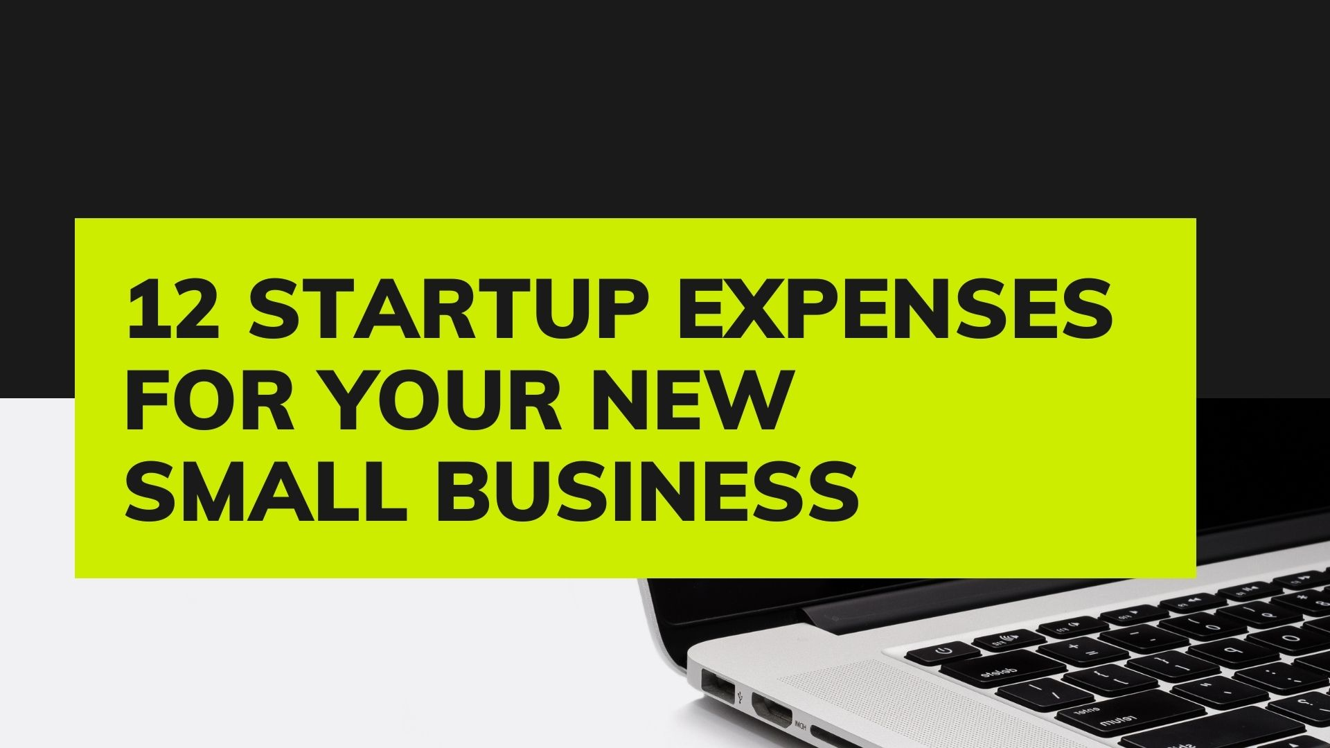 Startup Expenses For your New Small Business