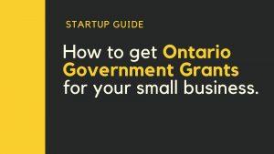 Ontario Government Grants (1)