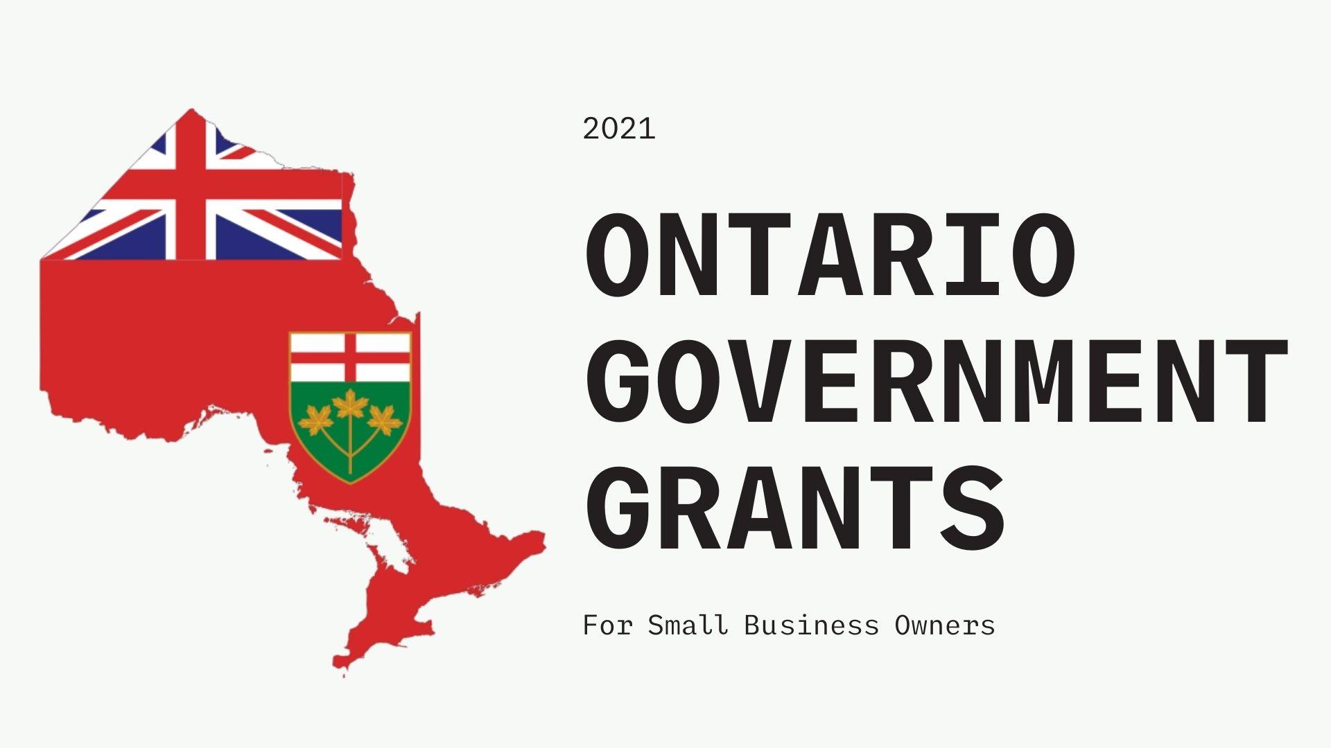 Ontario Government Grants